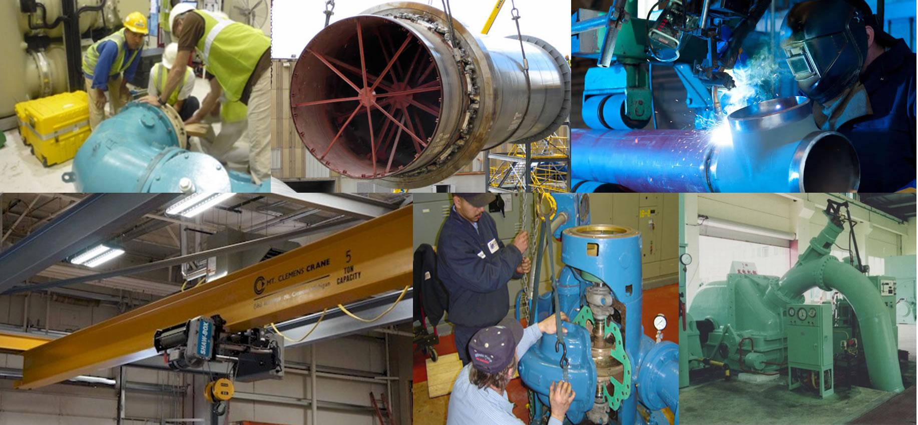 Instalación de equipos y sistemas de generación hidroeléctrica